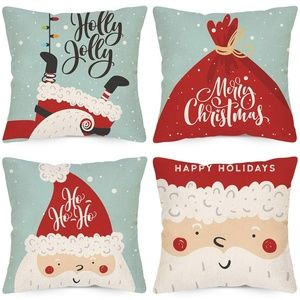 Christmas Decorative Pillow Covers 18x18 Inch
